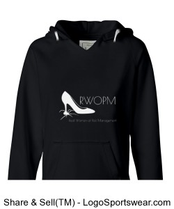 Black Hoodie with White RWOPM logo Design Zoom