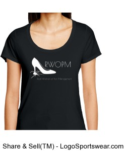 Black T shirt with White RWOPM logo Design Zoom