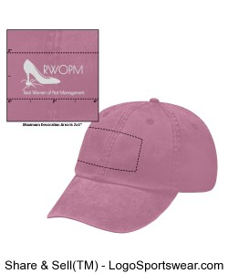 Pink Hat with White RWOPM logo Design Zoom